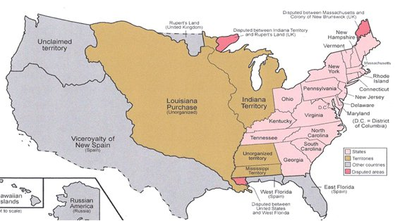 James Ware II Chapter - Us land acquisitions map