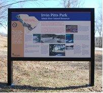 Irvin Pitts Park Marker